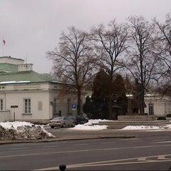 Photo taken at Pomnik Marszałka Piłsudskiego / Piłsudski Monument by Aleś Z. on 2/15/2013