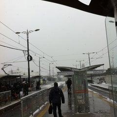 Photo taken at Cevizlibağ - A.Ö.Y. Tramvay Durağı by Mesut İ. on 12/20/2012