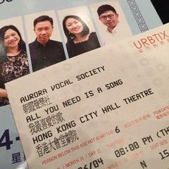 Photo taken at Hong Kong City Hall 香港大會堂 by Champignon G. on 6/4/2015