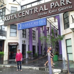 Photo taken at Kuta Central Park by Lusye R. on 1/5/2013