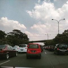 Photo taken at Jalan Tol Lingkar Luar Jakarta Seksi E1 (JORR E1) by moses p. on 7/17/2015