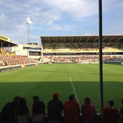 Photo taken at Herman Vanderpoortenstadion | Het Lisp by Kenny V. on 7/27/2013