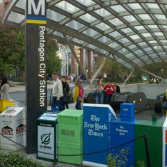 Photo taken at Pentagon City Metro Station by Joey E. on 10/22/2011