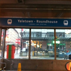 Photo taken at Yaletown - Roundhouse SkyTrain Station by Elodie B. on 12/27/2012
