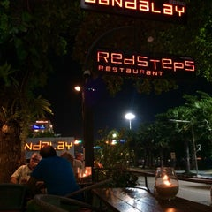 Photo taken at Redsteps Restaurant-Sandalay Resort by Pla S. on 11/19/2015