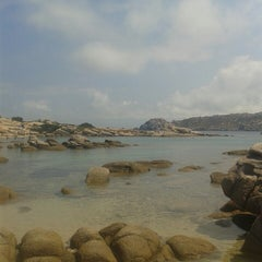 Photo taken at Capo Testa Spiaggia di Levante by Gabriele M. on 7/26/2014