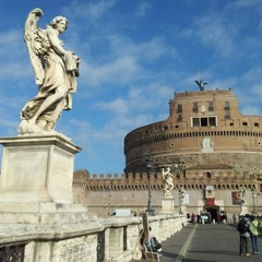 Photo taken at Ponte Sant'Angelo by Татьяна А. on 3/3/2013