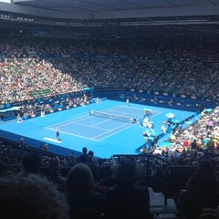Photo taken at Rod Laver Arena by Ali M. on 1/21/2013