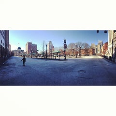 Photo taken at Kennedy Plaza Bus Terminal by Harrison T. on 1/28/2013
