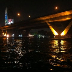 Photo taken at ท่าเรือสะพานตากสิน (Tak Sin Pier) by Anyasi T. on 3/10/2013