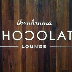 Photo taken at Theobroma Chocolate Lounge by Jin O. on 11/17/2012