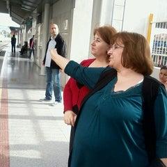 Photo taken at İzban Bayraklı İstasyonu by Aksel K. on 4/2/2013