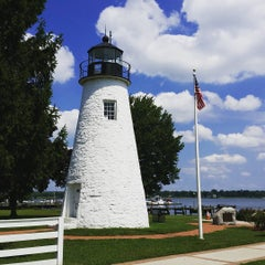 Photo taken at Concord Point and Lighthouse by T R. on 8/21/2015