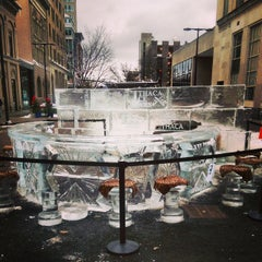 Photo taken at Downtown Ithaca by Benjamin D. on 12/12/2014