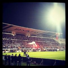 Photo taken at Beşiktaş İnönü Stadyumu Yeni Açık by Mert G. on 3/19/2013