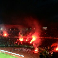 Photo taken at Stadion Gelora Bung Tomo by Lucky A. on 6/14/2015