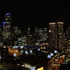 Photo taken at Crown Metropol Hotel by Whitney V. on 7/4/2013