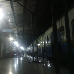 Photo taken at Stasiun Rantauprapat by Luther S. on 3/5/2015