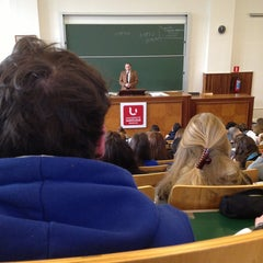 Photo taken at Université Saint-Louis by Lauranne D. on 2/19/2013