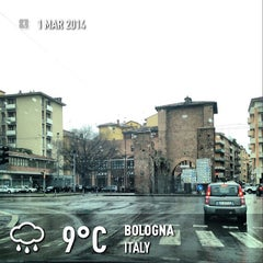 Photo taken at Porta Mascarella by Scienza on 3/1/2014