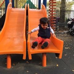Photo taken at John Jay Playground by stephanie on 10/29/2014