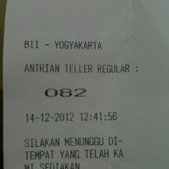 Photo taken at BII Maybank by Anna S. on 12/14/2012
