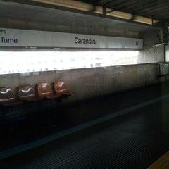Photo taken at Estação Carandiru (Metrô) by Elaine W. on 7/10/2013