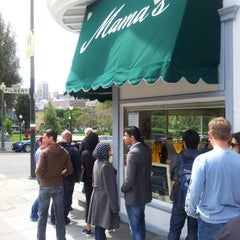 Photo taken at Mama's on Washington Square by Larry L. on 4/7/2013