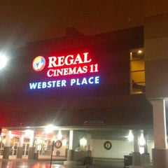 Photo taken at Regal Cinemas Webster Place 11 by Loyal Tha Truth on 1/10/2013