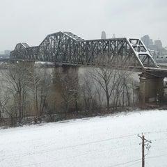 Photo taken at Brent Spence Bridge by Sameer L. on 12/29/2012