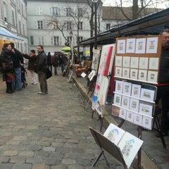 Photo taken at Place du Tertre by Başak G. on 3/22/2013