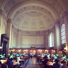 Photo taken at Boston Public Library by Savannah 🌻 on 1/19/2013