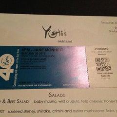 Photo taken at Yoshi's Jazz Club & Japanese Restaurant by We W. on 1/21/2013