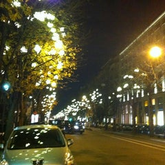 Photo taken at Avenue Montaigne by Sergey D. on 12/8/2012