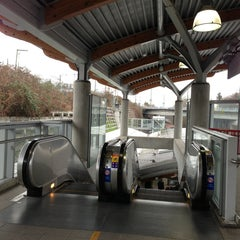 Photo taken at Commercial - Broadway SkyTrain Station by Aida on 2/26/2013