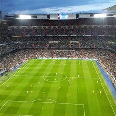 Photo taken at Estadio Santiago Bernabéu by Clara M. on 4/30/2013