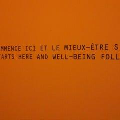 Photo taken at Scandinave Les Bains Vieux-Montréal by Kat B. on 1/6/2013