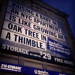 Photo taken at Manhattan Mini Storage by Aerik V. on 4/19/2013