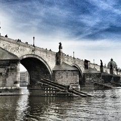 Photo taken at Karlův most   Charles Bridge by Martin K. on 4/8/2013