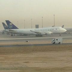 Photo taken at King Abdulaziz International Airport (JED) مطار الملك عبدالعزيز الدولي by Yuosof R. on 5/31/2013