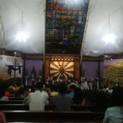 Photo taken at Gereja Katolik Santa Monika by Juniyanti on 4/4/2015
