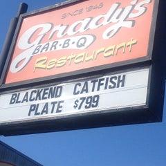 Photo taken at Grady's Bar-B-Q by Sarah F. on 2/17/2013