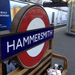 Photo taken at Hammersmith London Underground Station (Circle and H&C lines) by Yves V. on 11/2/2012