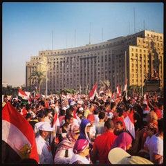 Photo taken at Tahrir Square   ميدان التحرير by Adam M. on 7/2/2013