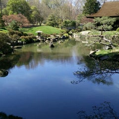 Photo taken at Shofuso Japanese House and Garden by winston y. on 4/10/2016