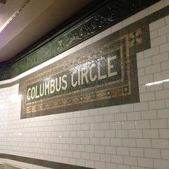Photo taken at MTA Subway - 59th St/Columbus Circle (A/B/C/D/1) by Andrea M. on 2/23/2013