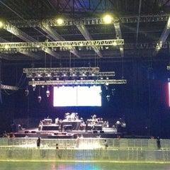 Photo taken at Mata Elang International Stadium (MEIS) by Kris S. on 12/16/2012