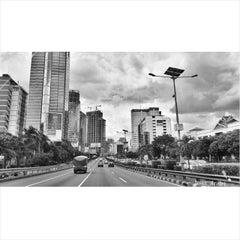 Photo taken at Jalan Tol Dalam Kota by andri suryo w. on 12/4/2014