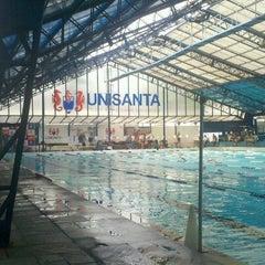 Photo taken at Universidade Santa Cecília (Unisanta) by Lucas M. on 1/17/2013
