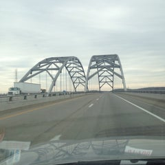 Photo taken at Luther Draffen Bridge by Lisa S. on 3/27/2014